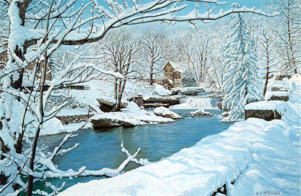 Glade Creek Grist Mill Winter